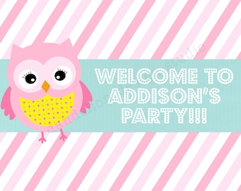 PRINTABLE Welcome Sign - Owl Party Collection - Dandelion Design Studio