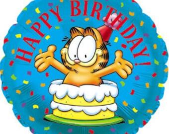 FAST SHIP TWO Garfield Birthday Balloons, Garfield Party Balloons, Garfield Foil Mylar Balloons, Garfield Party Supplies, Garfield Decor