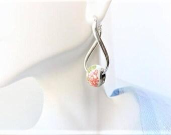 Bead Sterling Silver Earrings Pierced