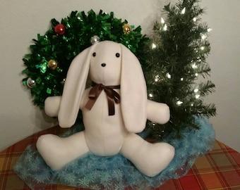 Handmade Fleece Stuffed Bunny