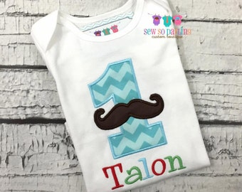 Baby Boy 1st Birthday outfit - Baby Boy Birthday Mustache Shirt - 1st Birthday Little Man Birthday Outfit - 1st Birthday Outfit