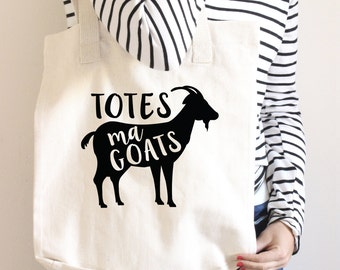 Totes Ma Goats Tote Bag - Funny Tote bag - gift - Funny Shopping Bag - Book Bag - Grocery Bag