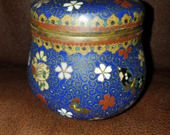 Vintage Metal Cloisonne Jar