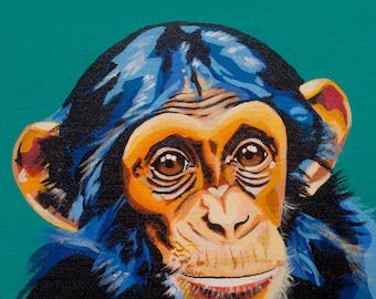 Chimpanzee Monkey Print
