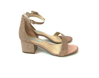 Vintage Sparkly Strappy Sandals