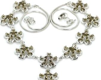 "Sterling Silver Smokey Topaz Gemstone  Necklace 19 20"""