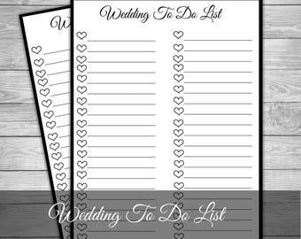 wedding to do checklist