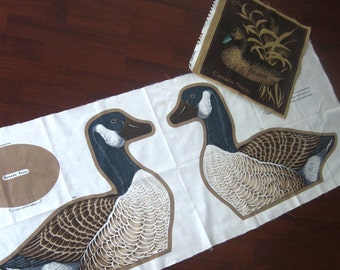 Vintage Fabric Panel Canada Goose Wild Bird Collection VIP Cranston Print Works Cut and Sew Pillow Cover