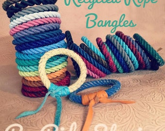Recycled Rope Bangles