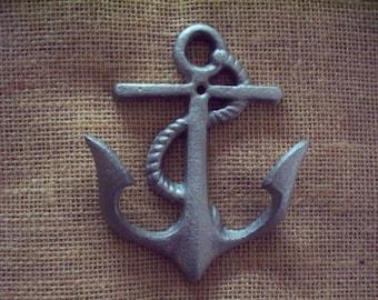 Anchor wall hook,  beach wall hook, nautical wall hook, cast iron hook.
