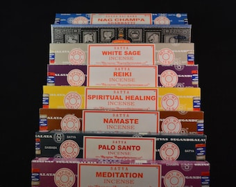 3 boxes of Traditional Temple Incense sticks for meditation