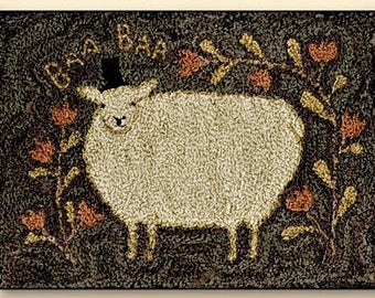 Punch Needle - Top Hat Sheep - Choose Pattern Only or Pattern with Floss Kit