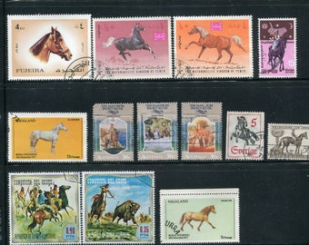 Horse Stamps /20 Used & Unused Horse Stamps Worldwide