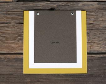 Handwritten Note Layered Wedding Invitation