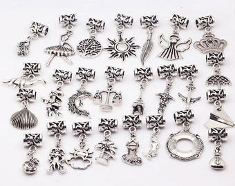25Pcs/lot Mixed Big Hole Beads For Pandora Charm Bracelet