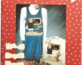 """1992 The Whole Country Caboodle  #121 """"Educated Edna"""" Applique Pattern"""