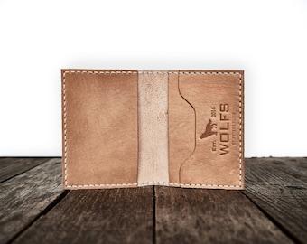 Wallet, Leather Wallet, Slim Wallet, Minimalist - Everyday Wallet (beige)