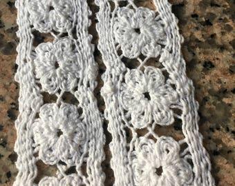Vintage White Crochet Ribbon - 2 yards