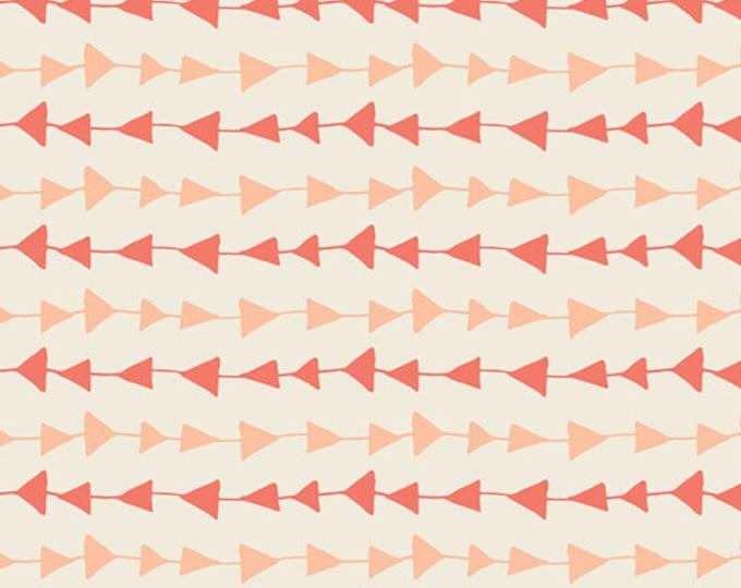 Arrow fabric, Boho fabric, Coral Orange fabric, Hello Bear fabric, Coral Nursery fabric, Art Gallery- Follow Me in Peach, Choose the cut