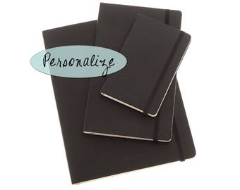 Black Personalized Mokeskine Journal or Notebook