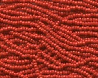 Preciosa Czech Beads - 11 0 - Red - 19g