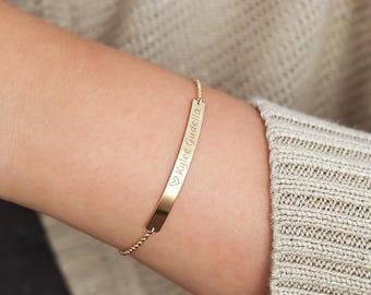 Bar bracelet, sterling silver or gold filled • BB46x41