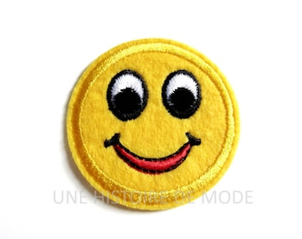 Coat, patch fusible emoticon 50 mm to sew or iron