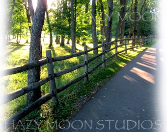 Stowe Vermont Bicycle Path through the Woods
