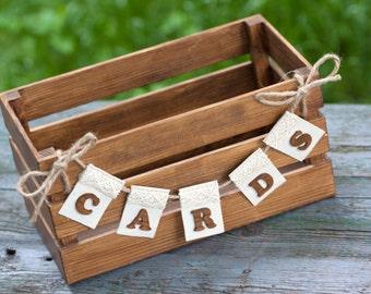 Wedding Card Box Rustic Card Box Wood Card Box Wood Card