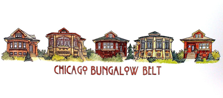 Chicago Bungalow Belt Art Poster