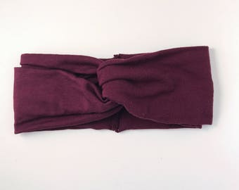 Burgundy headband/ turban