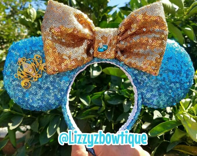 Cinderella Princess sequin Minnie ears