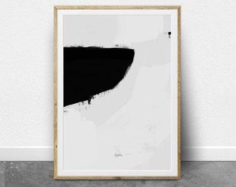 Minimalist Painting, Abstract Wall Art, Printable Wall Art, Scandinavian Modern, Fine Art Print, Black and White Minimal Wall Art, Painting
