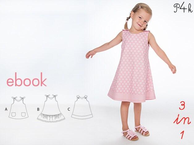 Baby pinafore dress pdf sewing pattern, tunic dress pattern, Girl ...