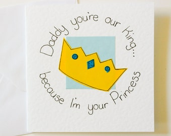 First time dad card etsy handmade greeting card for a daddy daddy youre my king bookmarktalkfo Choice Image