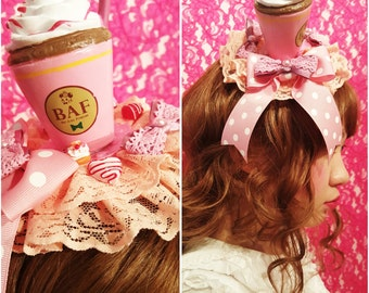 Peach Pink Dessert Beverage Headdress