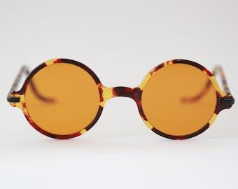 Vintage Wilson Tortoise yellow glass round sunglasses safety glasses