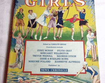 Sport for Girls book edited by Carolyn Dingle Vintage collectible book Girls Sports manual