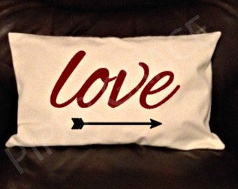 Valentine's Day Pillow Covers, Valentine's Day Decor, Valentine's Day Ideas, Throw Pillow Covers, Decorative Pillow Covers