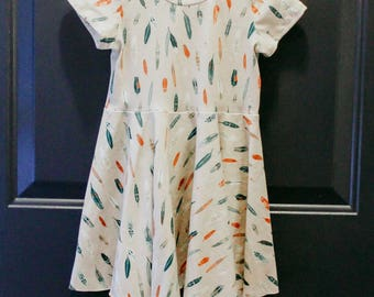Twirly Dress, 3t Baby Dress, Feather Dress, Toddler Dress, Twirl Skirt, Birthday outfit, Twirl Dress, Baby Girl Clothes, Baby Girl Outfit
