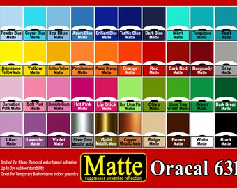 """1 roll 12"""" Matte adhesive backed vinyl Sign & Craft  Oracal 631   use with Die Cut, Sign Cutters, Craft Cutters"""