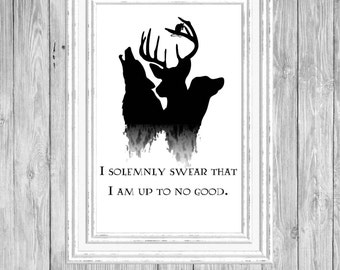 Harry Potter/Marauders/I Solemnly Swear That I Am Up To No Good/Mischief Managed/Moony, Wormtail, Padfoot, Prongs/Instant Download