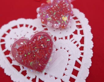Adorned Hearts Conversation Heart Pins