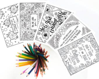 Most Popular Printable Coloring Pages Bundle, Christian Coloring, Inspirational Coloring, Instant Digital Download, Buy 2 Get 3 Free!