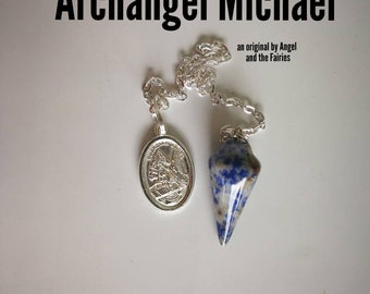 Code 287 Sodalite Pendulum Infused Archangel Michael Guardian Angel an original by Angel and the Fairies