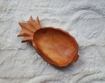 Vintage Pineapple Wood Bowl