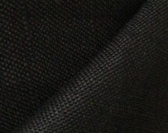 Bamboo Flax Linen - Black