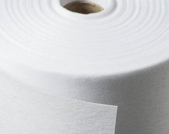 White Fusible Non-Woven Iron on Interfacing Sold by the metre with BULK DISCOUNTS and 4 Weights to Choose from!