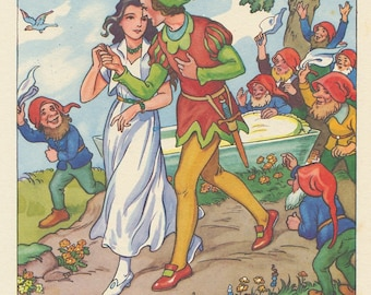 Vintage Children's Image (1985): from Snow White. Fairy Tale. NOT A BOOK.