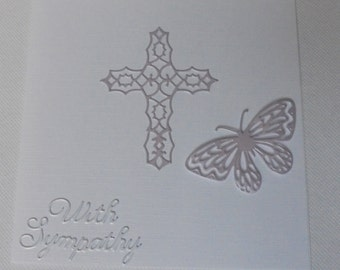 Sympathy card. Bereavement card. Thinking of you. Sorry for your loss. Loss of Loved One. Condolence Card. Butterfly sympathy.